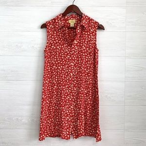 VTG *RUNS SMALL* Ditsy Floral Button Up Dress